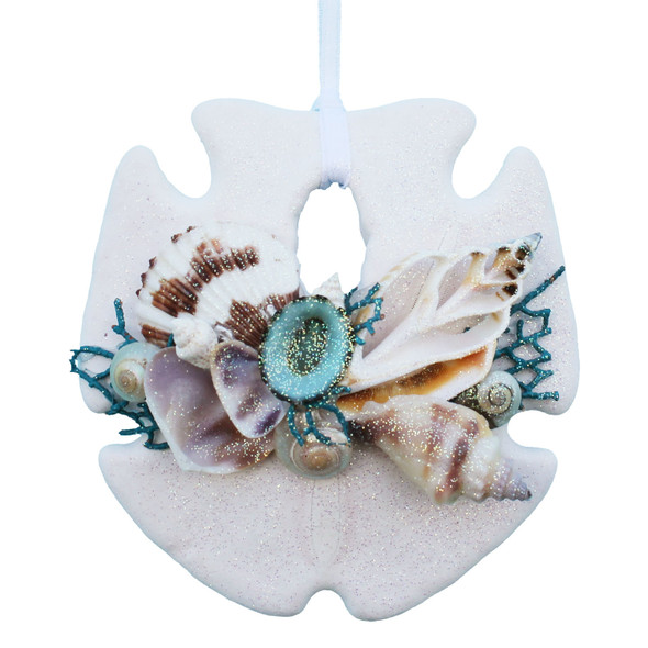 Turquoise Sea Fan Sand Dollar ornament