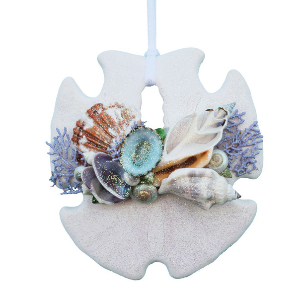 Lavender Sea Fan Sand Dollar ornament