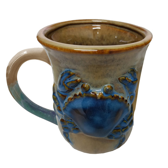 Blue Crab Stoneware Mug