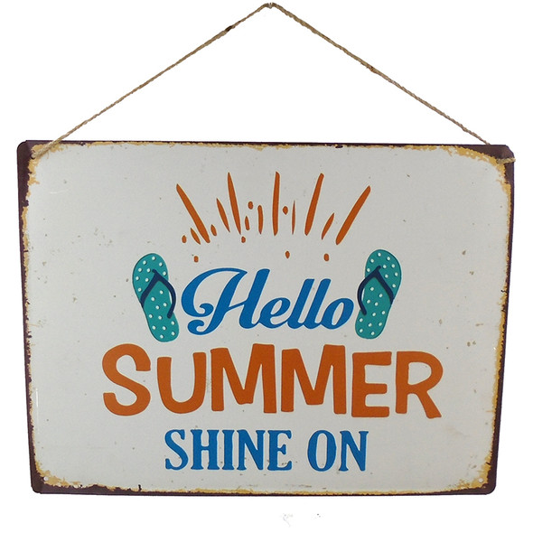Hello Summer Metal Sign