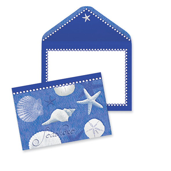 Blue Seashells Note Cards