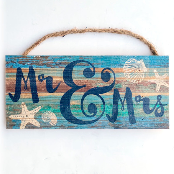 Mrs. & Mrs. Coastal Rope Sign