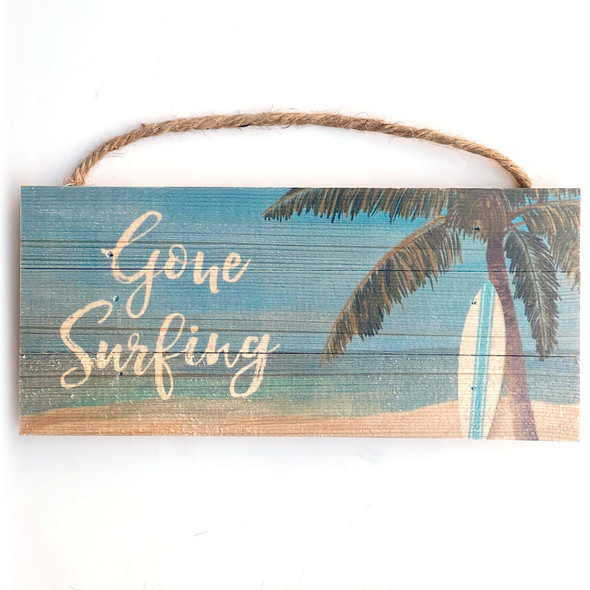 Gone Surfing Rope Sign