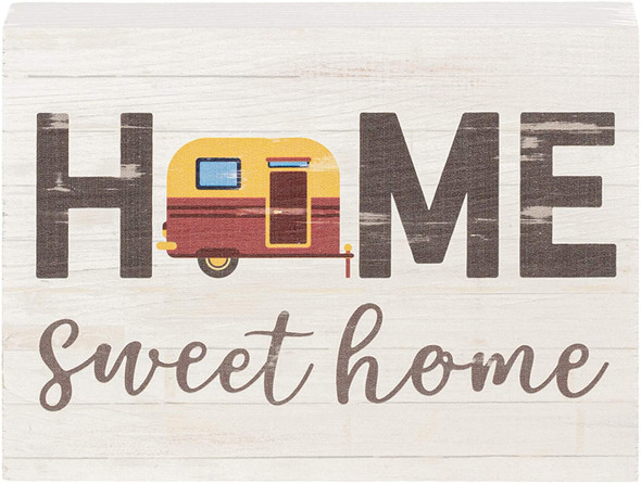 Home Sweet Home Camper Chunky Sign