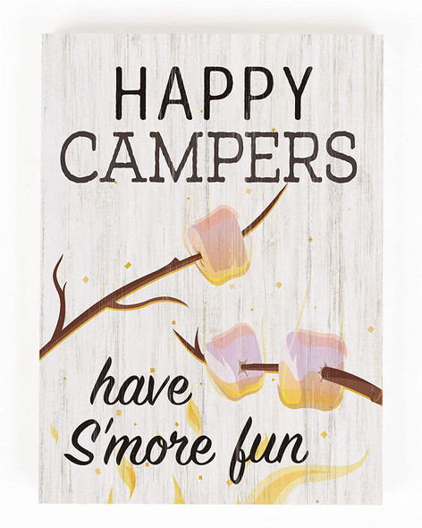 Happy Campers Chunky Wood Sign