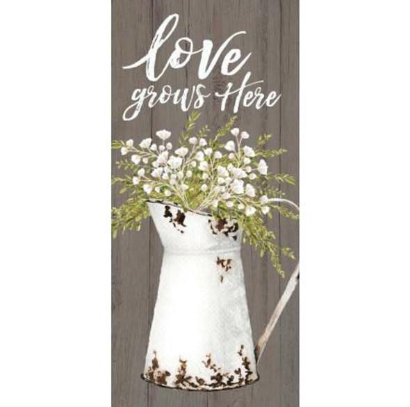 Love Grows Here Tabletop Sign