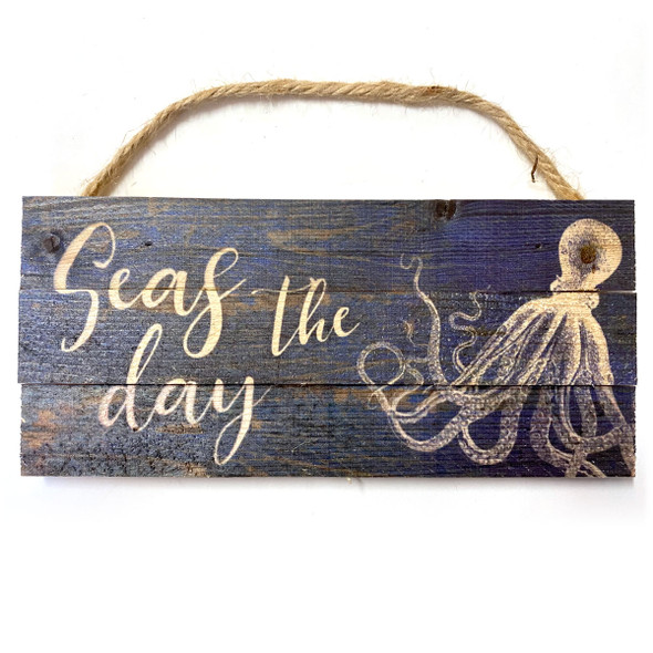Seas the Day Octopus Rope Sign