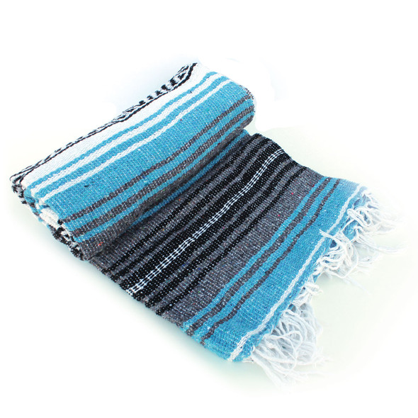 Light Blue Mexican Blanket