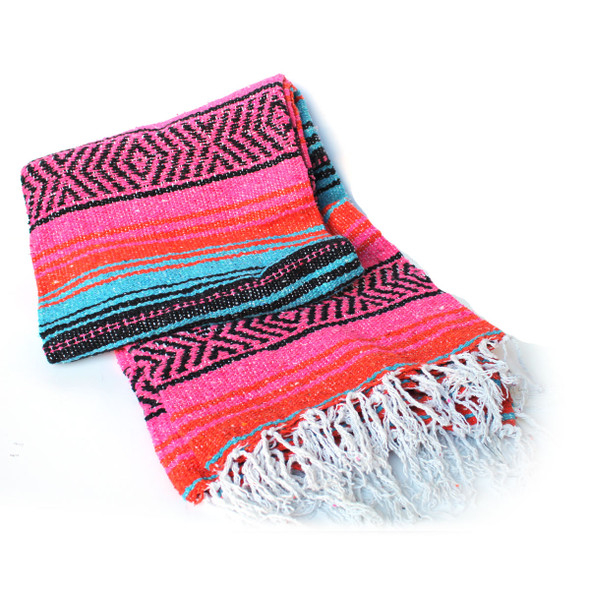 Hot Pink - Orange & Blue Blanket