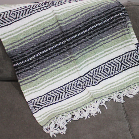 Light Green Mexican Blanket
