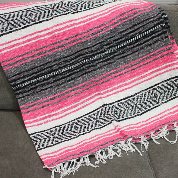 Hot Pink Yoga Blanket