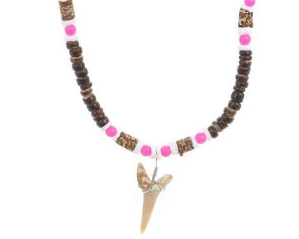 Shark Tooth Coco Bead Necklace