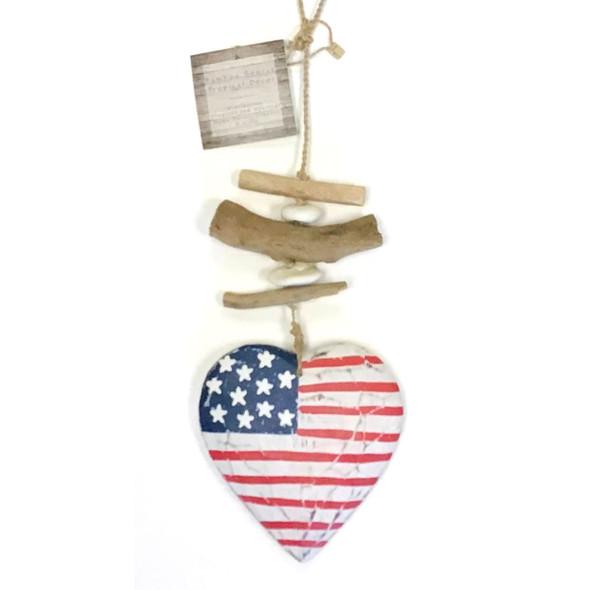 American Flag Heart Strand