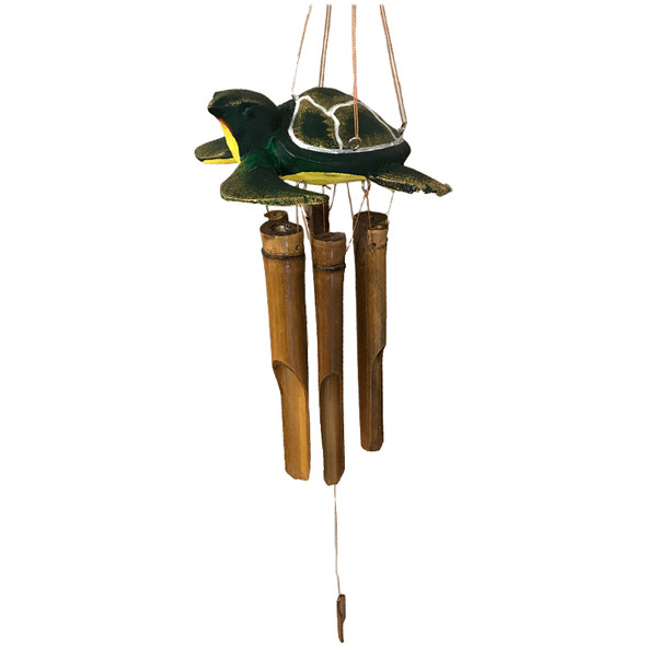 Green Sea Turtle Bamboo Wind Chime