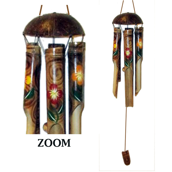 Color Flower Coco Bamboo Chime