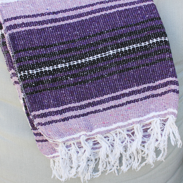 Purple Baja Blanket