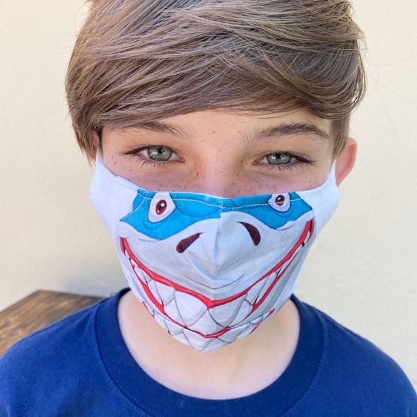 Child Shark Face Mask