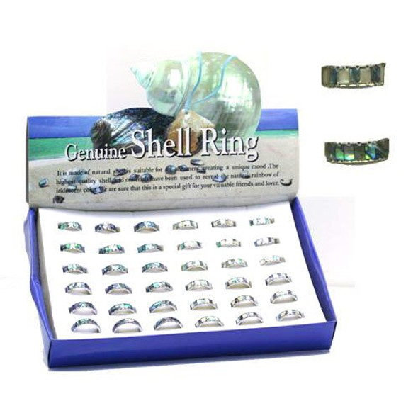 Paua Shell Rings