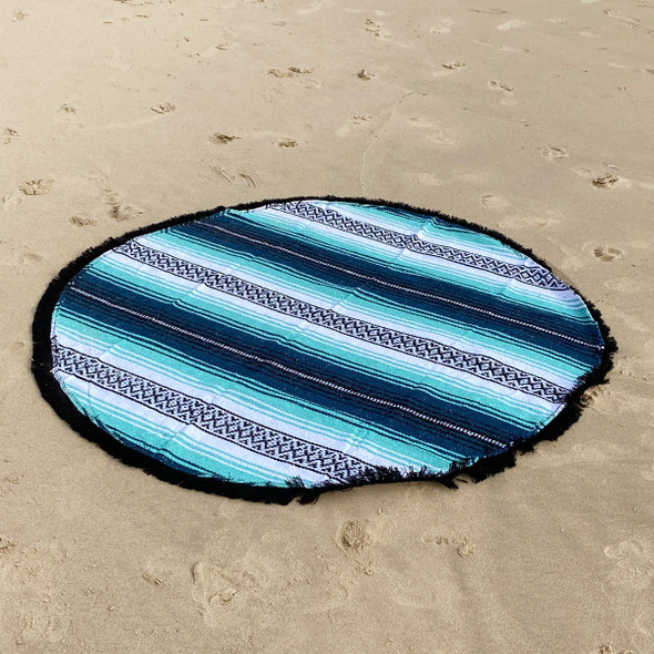 Round Mexican Falsa Blanket