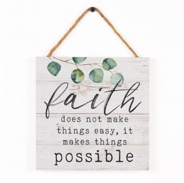 Faith Rope Sign