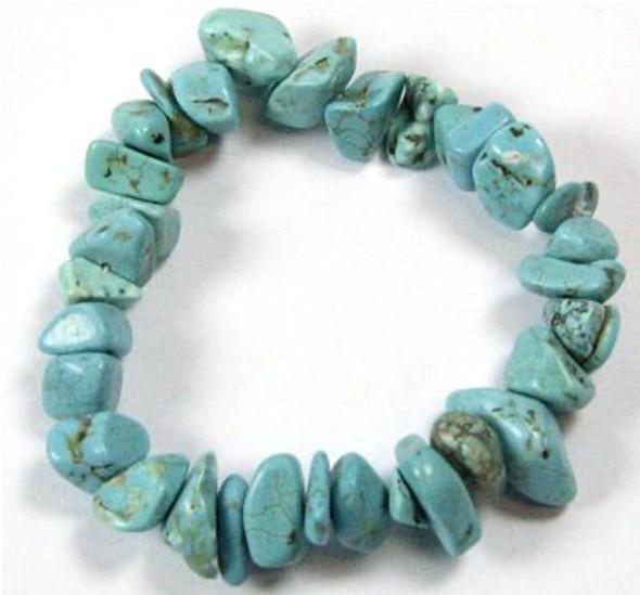 Chunky Turquoise Howlite Bracelet
