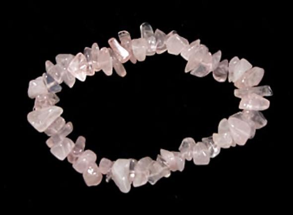 Rose Quartz Chip Bracelet