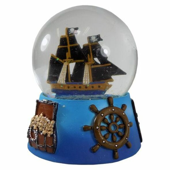 Pirate Ship Snow Globe