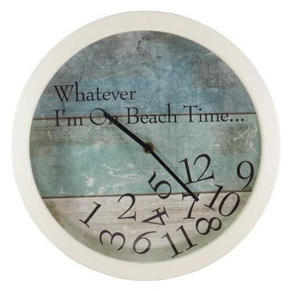 On Beach Time Wall Clock