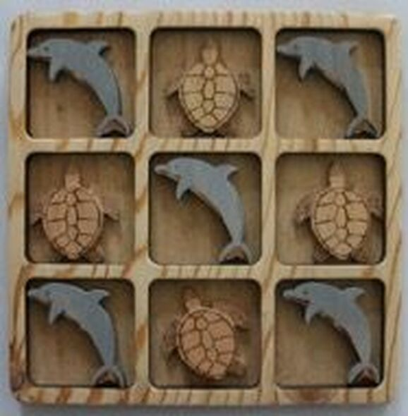 Dolphin & Sea Turtle Tic Tac Toe