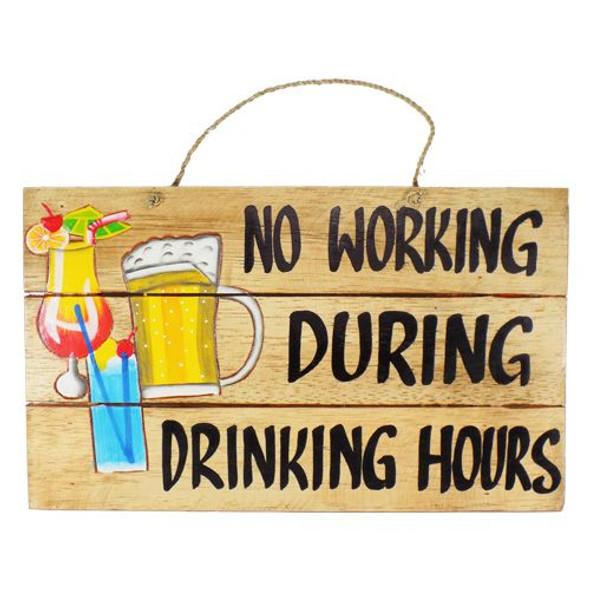 Drinking Hours Slat Sign
