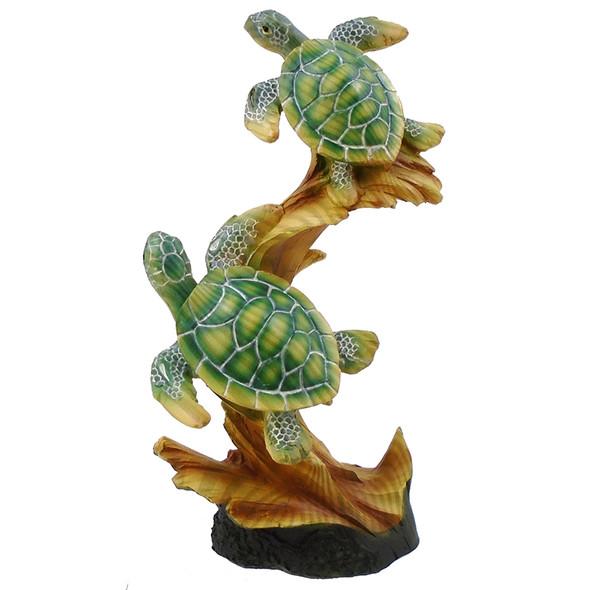 Sea Turtles on Log Figure