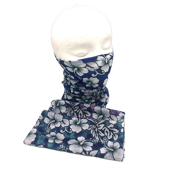 Hawaiian Print Neck Gaiter
