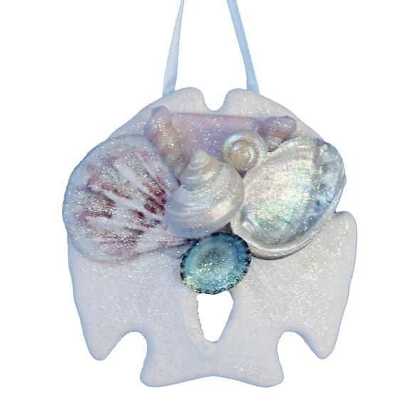 Pink Sea Glass Sand Dollar Ornament