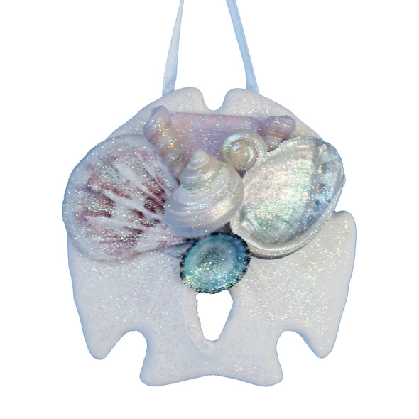 Pink Sea Glass Sand Dollar Ornament