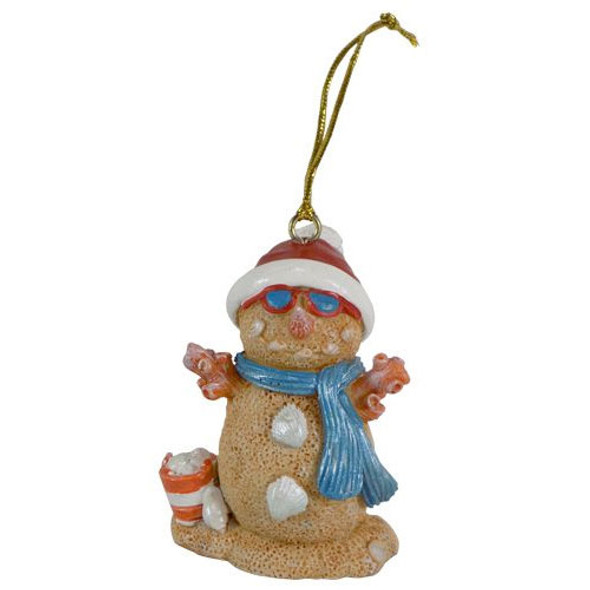 Resin Sand Snowman Ornament
