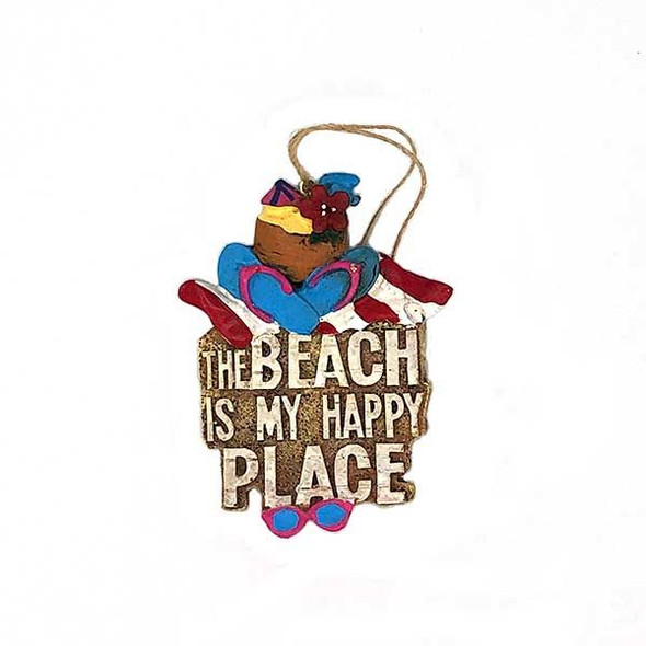 Beach is My Happy Place Ornament