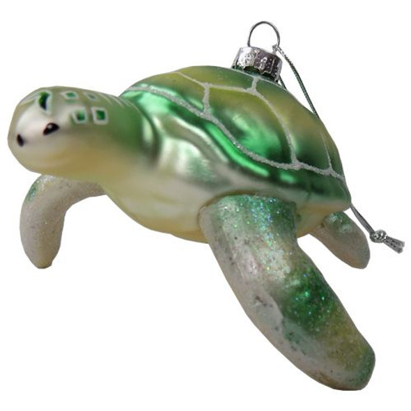 Sea Turtle Blown Glass Ornament