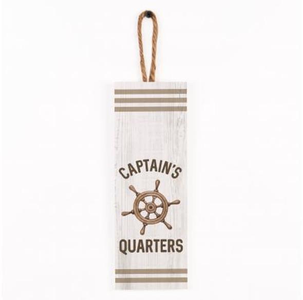 Captain's Quarters Vertical Sign