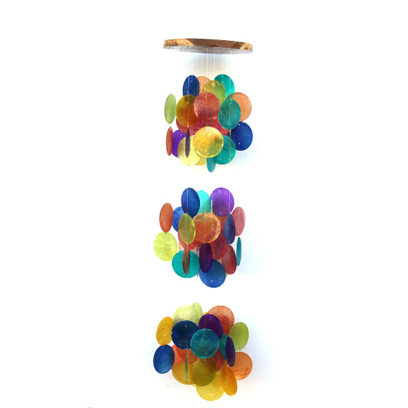 Rainbow Triple Ball Capiz Chime