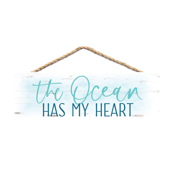 The Ocean Has My Heart Rope Sign