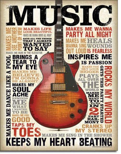 Music Inspires Me Metal Sign