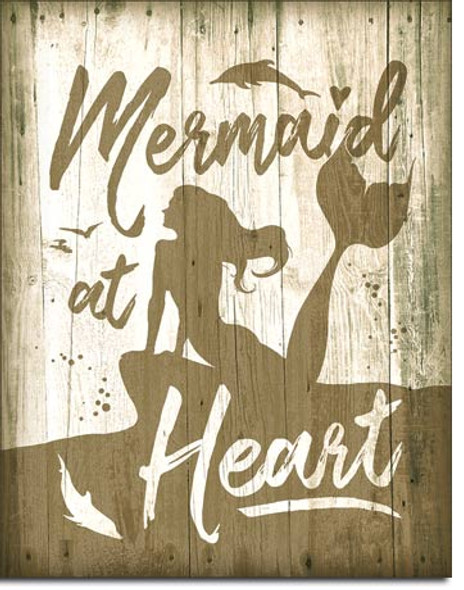 Mermaid at Heart Metal Sign