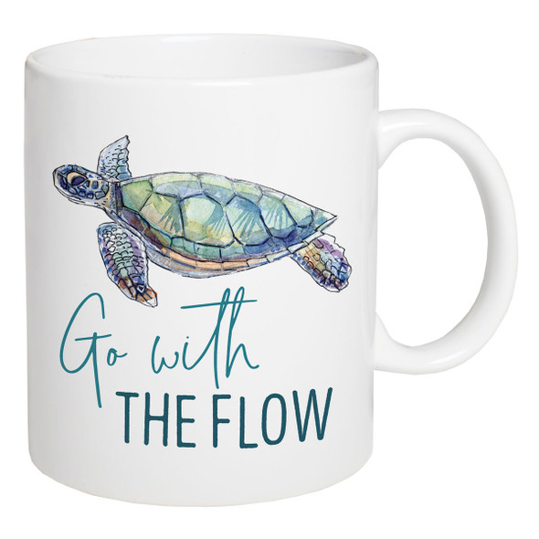Go with the Flow Sea Turtle Mug