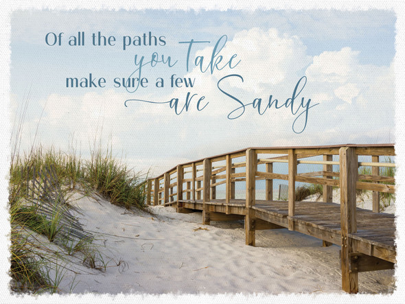Sandy Paths Canvas