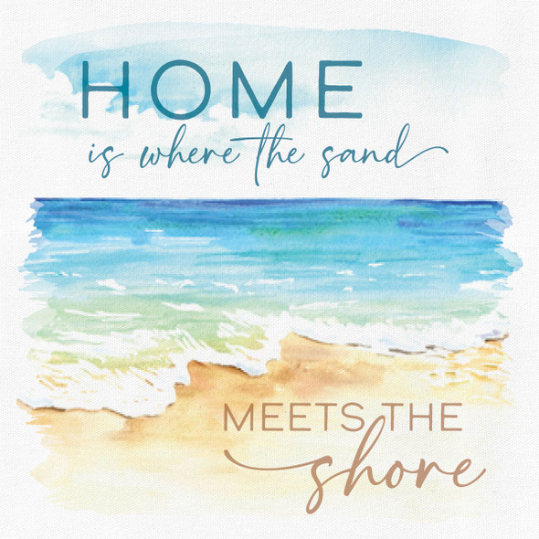 Home is Where the Sand Meets the Shore Canvas