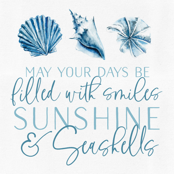 Smiles, Sunshine & Seashells Canvas
