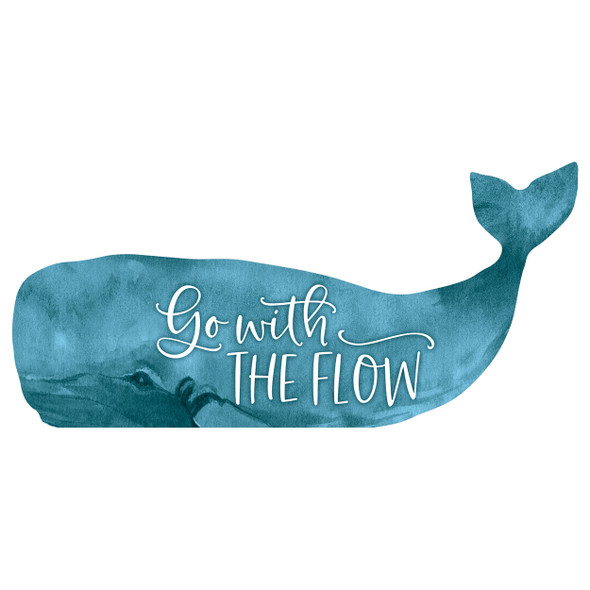 Go with the Flow Whale Sign