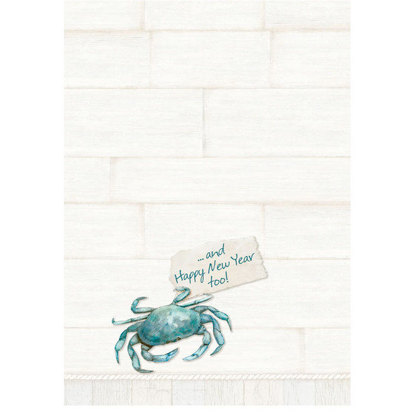 Blue Crab Embellished Christmas Cards