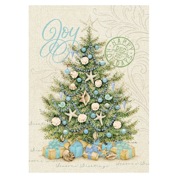 Joy Sand Dollar Christmas Holiday Themed Weekender Bag