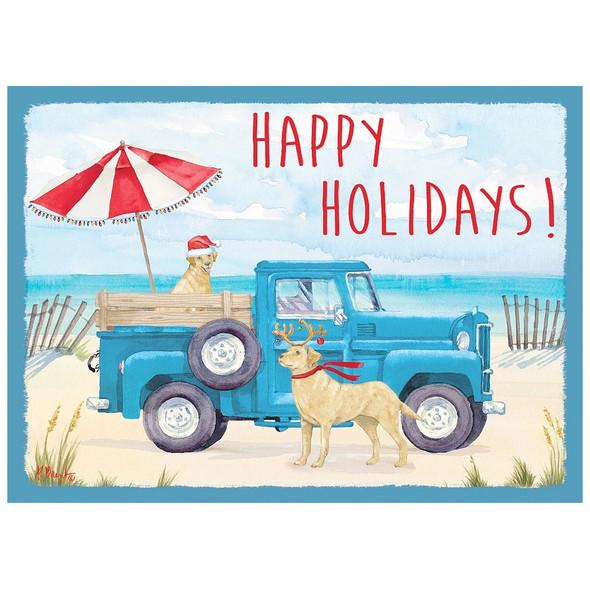 Happy Holidays Beach Truck